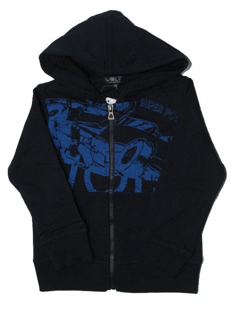 vel.104,110-Chlapecká mikina WOLF - tm.modrá barva