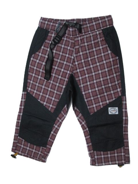 146,152-Dětské 3/4 kalhoty Neverest - vínová kostka