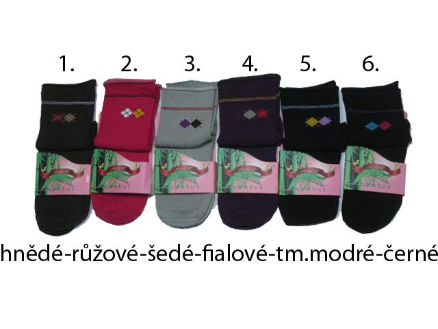 Dámské (dívčí) klasické bambusové ponožky AMZF vel.35-38