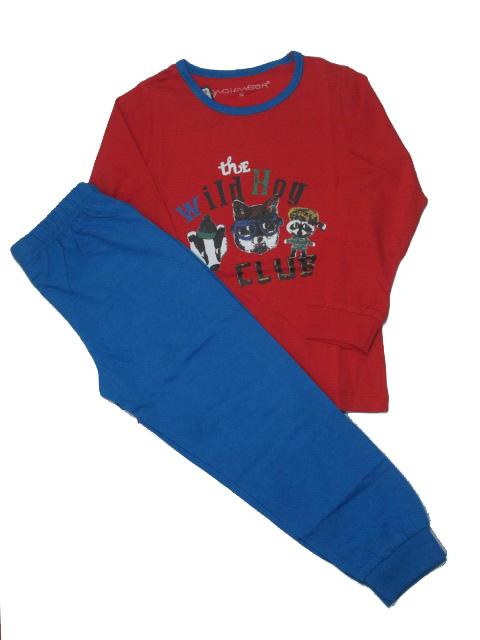 vel.92-110,122-Chlapecké pyžamo WOLF - červeno-modré