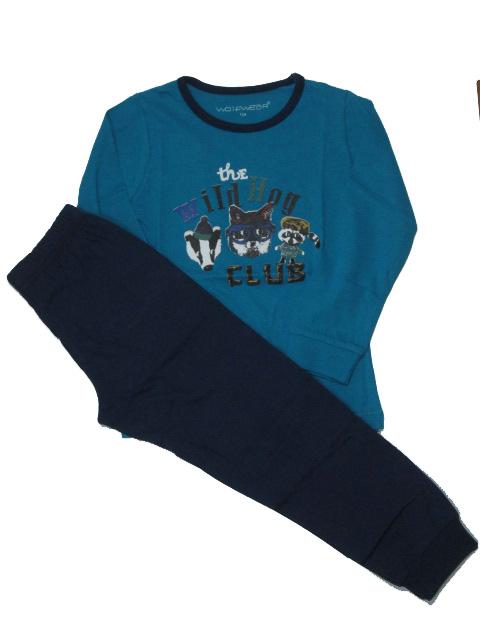 vel.92-110-Chlapecké pyžamo WOLF - petrolejovo-tm.modré