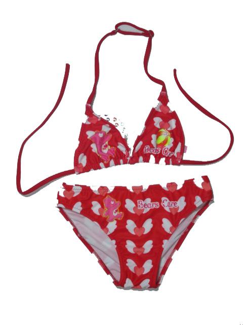 vel.122,128,152,158-Dívčí dvojdílné plavky SEFON - barva červená