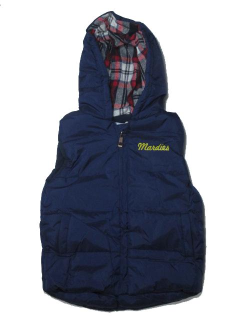 98,104-Chl.zateplená podzimní/zimní vesta GOOD CHILDREN - tm.modrá