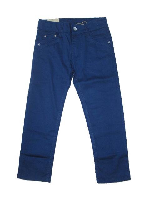 110,134-Chlapecké letní plátěné kalhoty KUGo -modrá barva