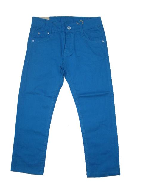 110,122,134-Chlapecké letní plátěné kalhoty KUGo -tm.tyrksová barva