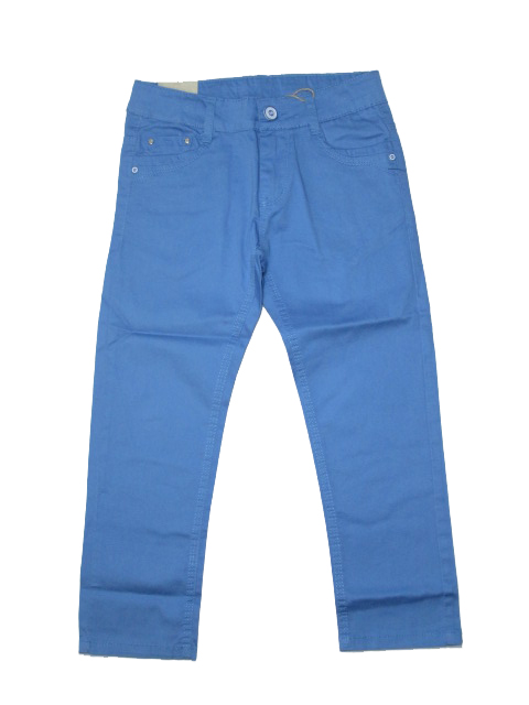 116,128,134-Chlapecké letní plátěné kalhoty KUGo - nebesky modrá barva