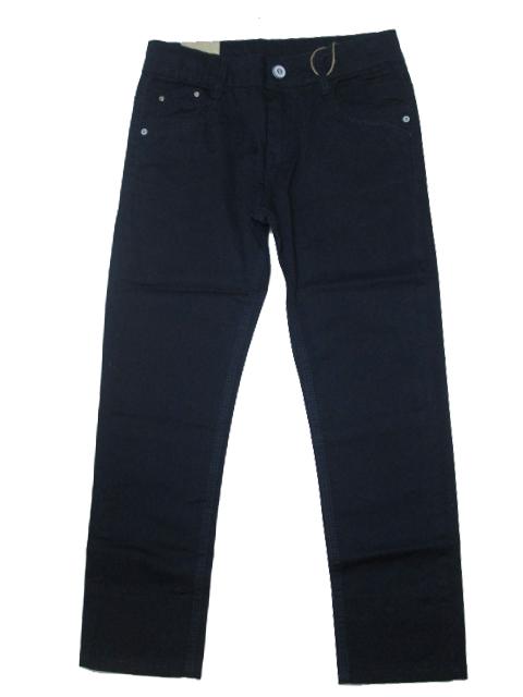 128-Chlapecké letní plátěné kalhoty KUGo - tm.modrá barva