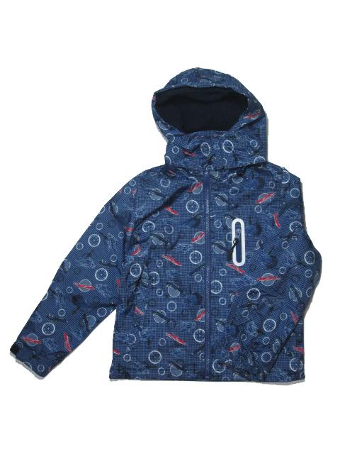 vel.104-110,116-122-Chlapecká podzimní/jarní bunda - barva tm.modrá
