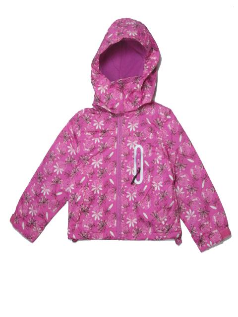 110-116-Dívčí podzimní/jarní bunda - barva růžová