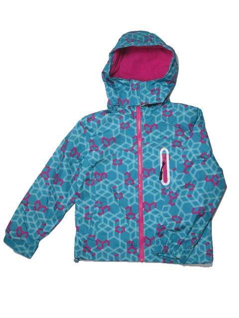vel.116-122-Dívčí podzimní/jarní bunda -zeleno-modrá