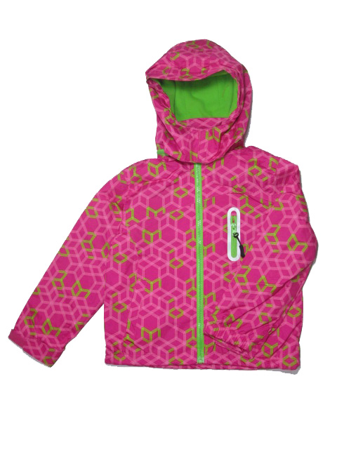 vel.122-128-Dívčí podzimní/jarní bunda - tm.růžová barva