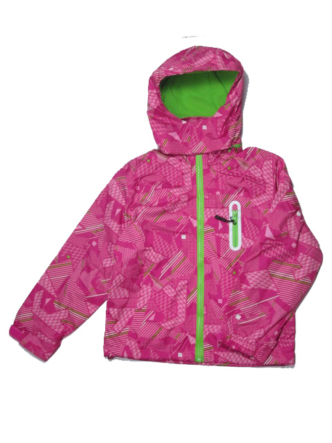 vel.116-122,122-128-Dívčí podzimní/jarní bunda - barva tm.růžová