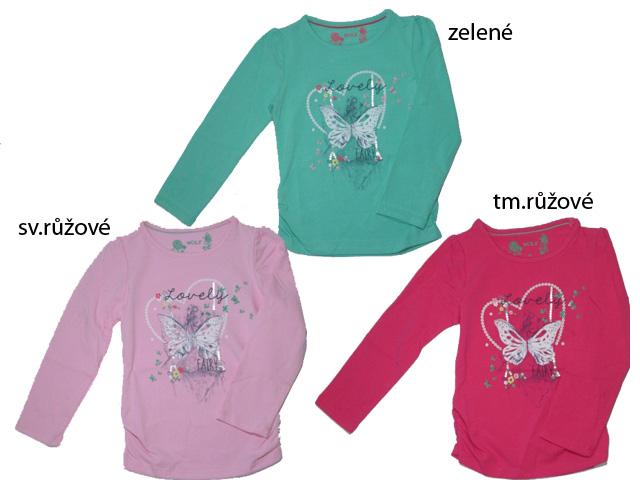 vel.98-122-Dívčí tričko - dlouhý rukáv WOLF