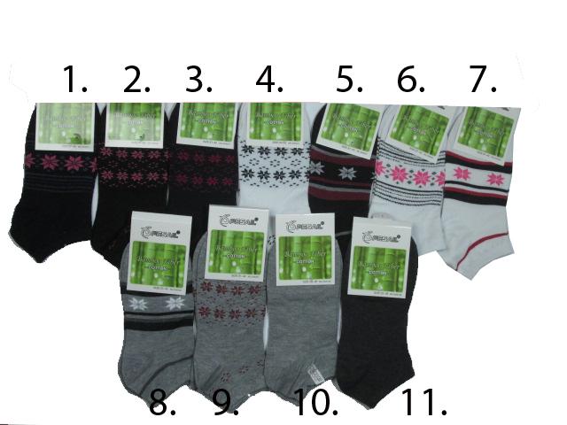 vel.35-38,38-42-Dámské (dívčí) kotníčkové bambusové ponožky Pesail