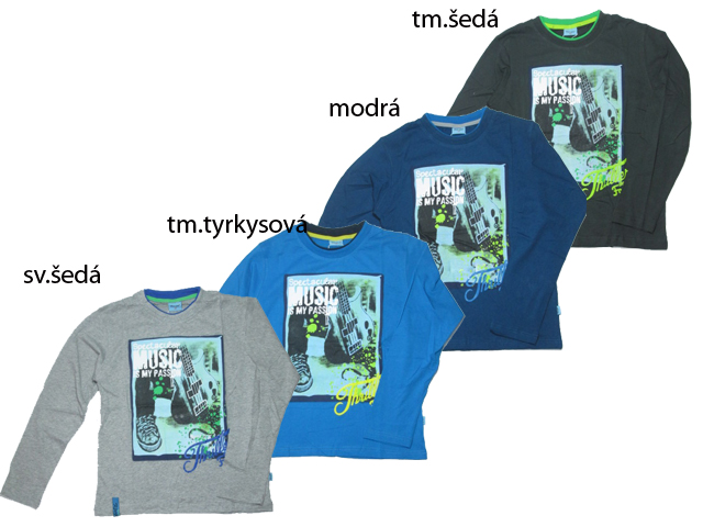vel.140-164-Chlapecké tričko KUGo - dlouhý rukáv
