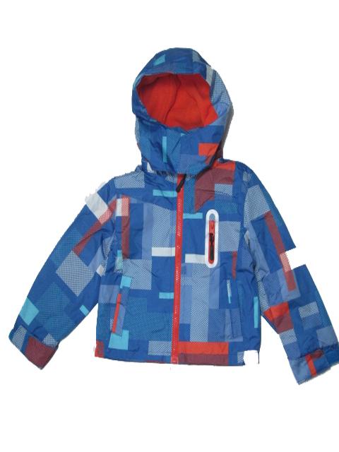 92-98,110-116-Chlapecká podzimní/jarní bunda - barva modro-oranžová