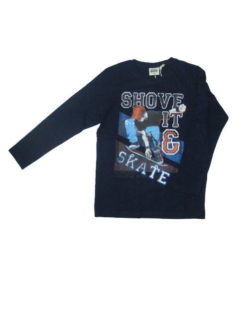 vel.140,158,164-Chlapecké tričko - dlouhý rukáv Glo-Story - tm.modrá barva