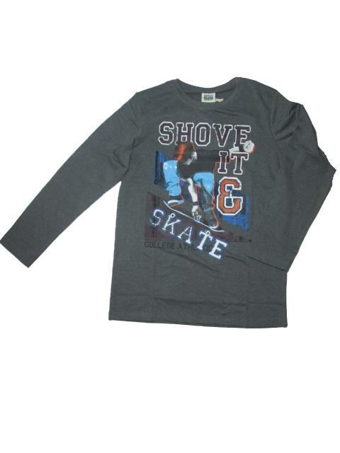 vel.152,158,164-Chlapecké tričko - dlouhý rukáv Glo-Story - tm.šedá barva