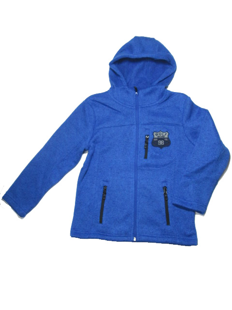 vel.146-Chlapecká zateplená mikina WOLF - modrá barva
