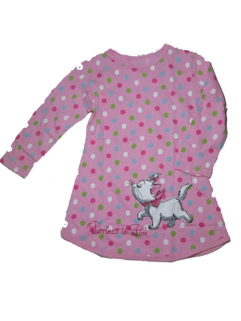vel.110-Noční košile - dlouhý rukáv - WOLF -růžová barva