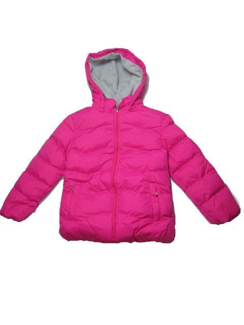 vel.110,140-Dívčí zimní bunda WOLF - tm.růžová barva