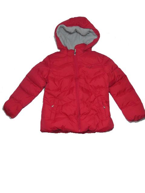 vel.140-Dívčí zimní bunda WOLF - červená barva