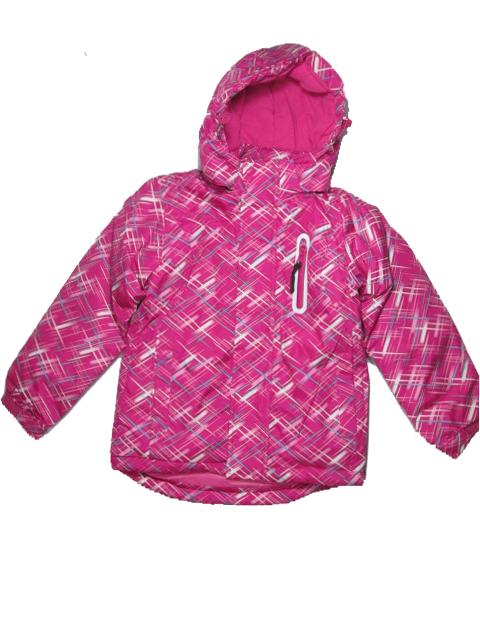 vel.116-Dívčí zimní bunda Happy House - růžová barva