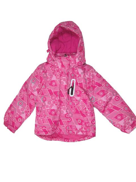 86-92,-Dívčí zimní bunda Monellina - barva tm.růžová