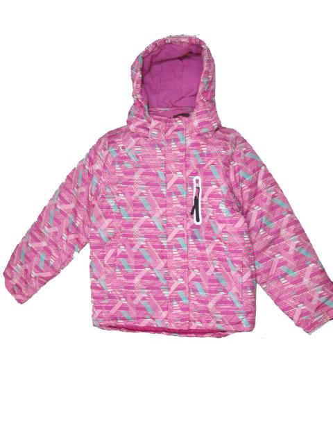 vel.140-146-Dívčí zimní bunda Monellina - růžová barva