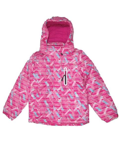 vel.134-140,146-152-Dívčí zimní bunda Monellina - tm.růžová barva
