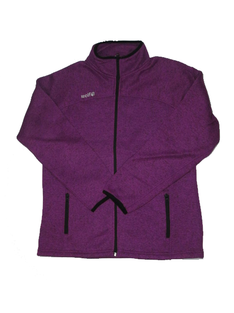 vel.M-Dámská outdoorová mikina - WOLF - fialová barva