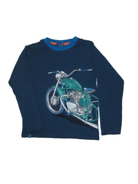 vel.164-Chlapecké tričko KUGo - dlouhý rukáv - barva modrá