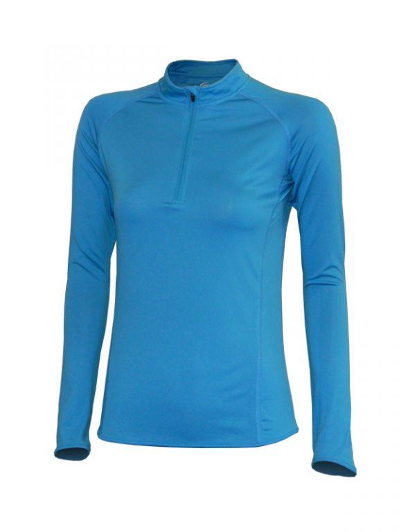 vel.L,XL,2XL--Dámské funkční triko - dlouhý rukáv - tyrkysová barva