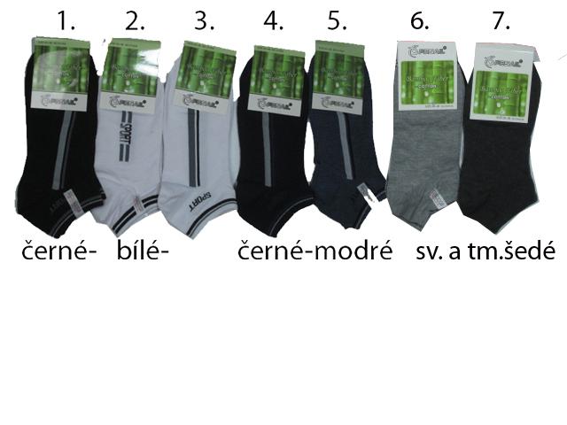 vel.40-43,43-46-Pánské kotníčkové bambusové ponožky Pesail