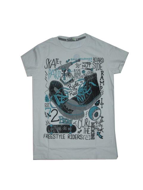 vel.152,158,164-Chlapecké tričko Glo-Story - krátký rukáv - bílá barva