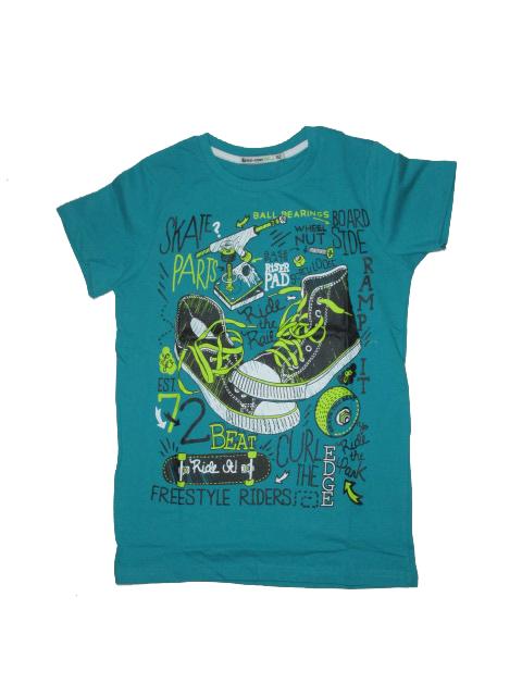 vel.152,158,164-Chlapecké tričko Glo-Story - krátký rukáv - petrolejová barva