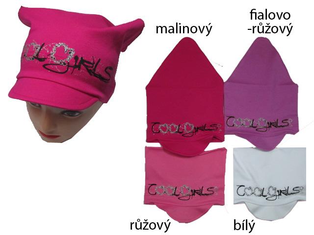 4-8 let-Dívčí šátek + kšilt - COOLGirls - RDX
