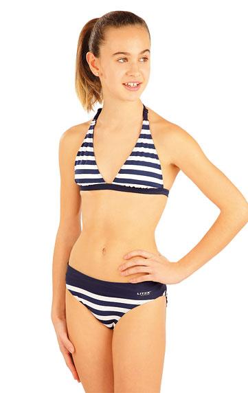 vel.134-Dívčí plavkové bokové kalhotky Litex - proužek