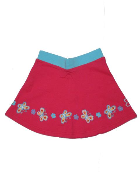 vel.110-128-Dívčí sukně WOLF - červeno-růžová barva