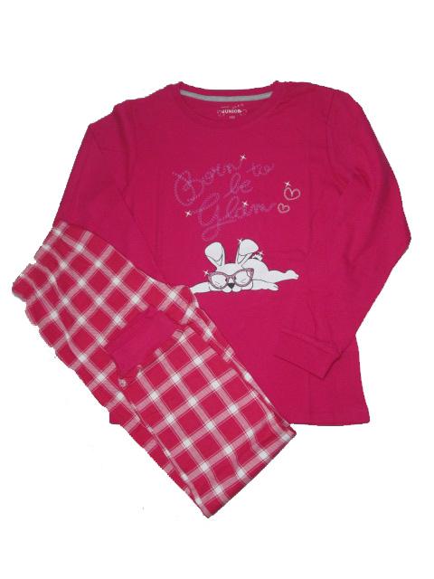 vel.170-Dívčí pyžamo WOLF - malinová barva
