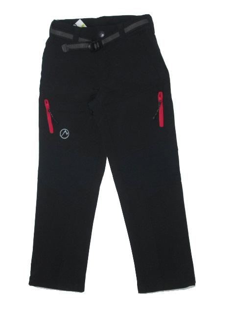 vel.116-152-Dívčí softshellové kalhoty Neverest - černá barva