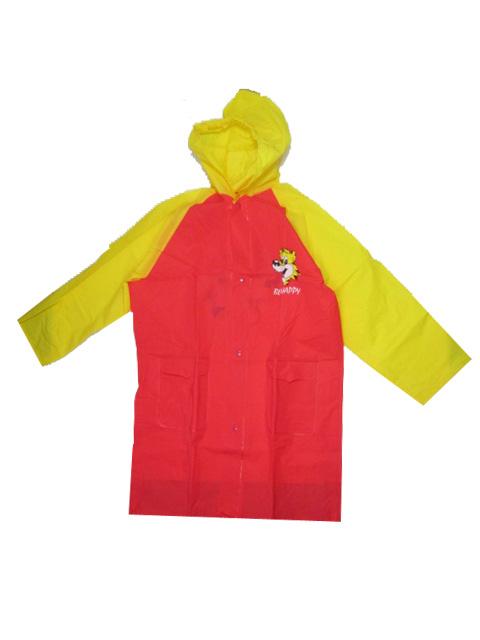 vel.92-134-Dětská pláštěnka VIOLA 5907 - červeno-žlutá barva