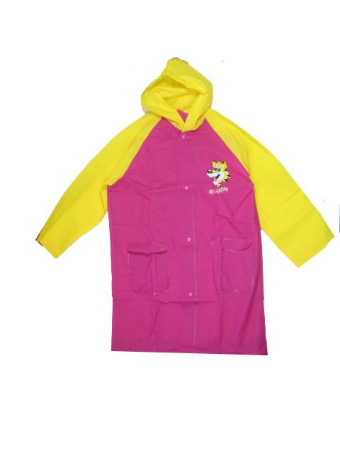 vel.92-134-Dětská pláštěnka VIOLA 5907BZ - růžovo-žlutá barva