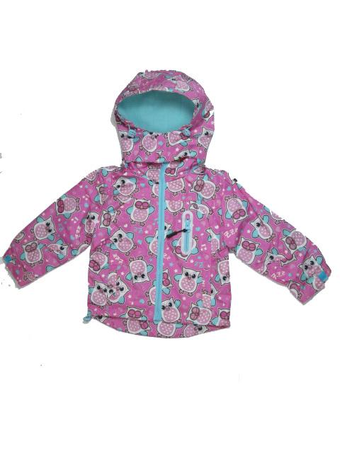 vel.110-116-Dívčí podzimní/jarní bunda - barva růžovo-fialová