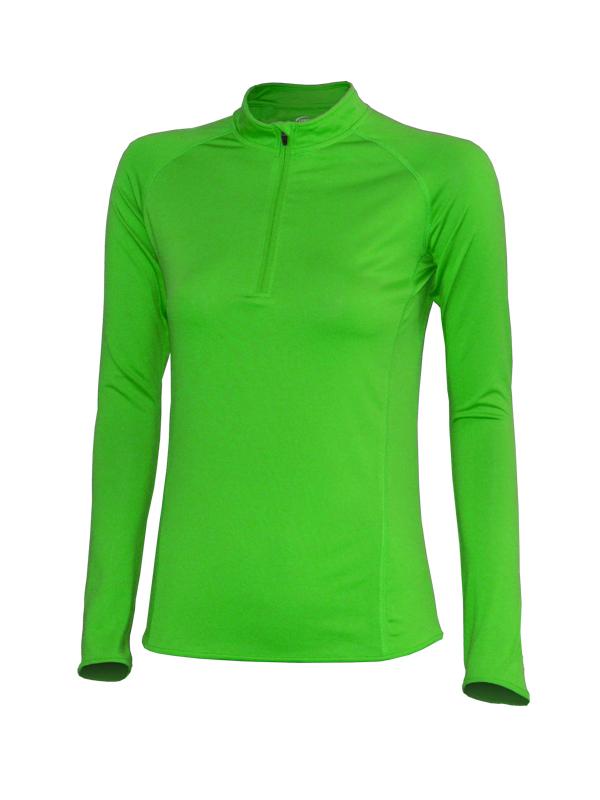 vel.L,XL,2XL--Dámské funkční triko - dlouhý rukáv - zelená barva