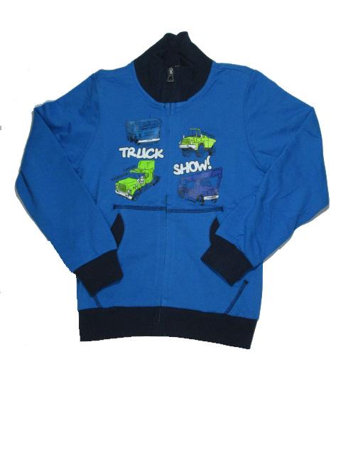 vel.140,146-Chlapecká mikina WOLF- modrá barva