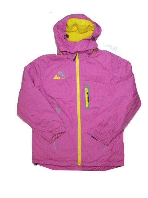 134-164-Dívčí šusťáková podzimní/jarní bunda - barva růžovo-fialová