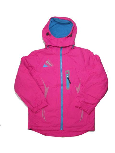 134-164-Dívčí šusťáková podzimní/jarní bunda - barva tm.růžová