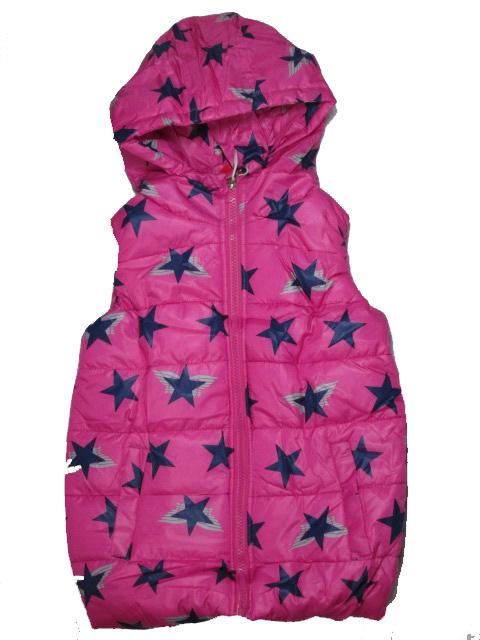 vel.86-92-Dívčí zateplená zimní/jarní vesta SEZON - růžová barva