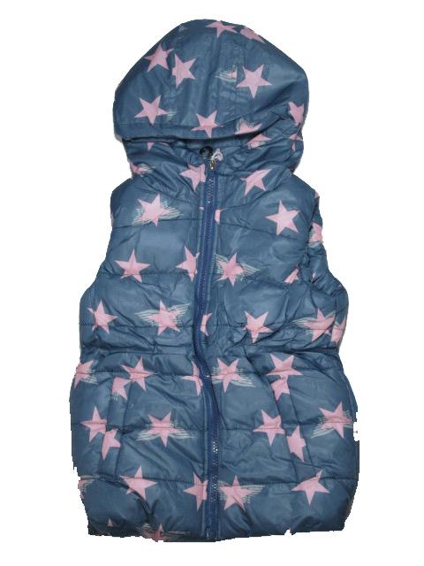 vel.86-92-Dívčí zateplená zimní/jarní vesta SEZON - šedá barva